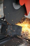 cutting steel - stock photo