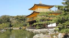 Rokuon-ji temple in Kyoto Stock Footage
