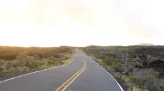 POV shot of driving on the Road to Hana - stock footage