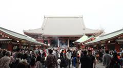 Senso-ji Buddhist temple in Tokyo. Stock Footage