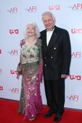 buzz aldrin and wife - stock photo