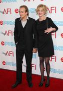 melanie griffith and son jesse johnson.37th annual afi lifetime achievement a - stock photo