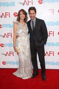eric mccormack and janet holden.37th annual afi lifetime achievement awards.h - stock photo