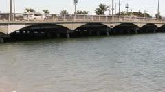 Canal Bridge Stock Footage