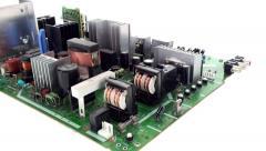 TV circuit board pan 3 Stock Footage