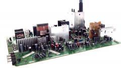 TV circuit board pan Stock Footage