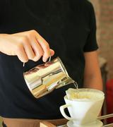 Hand drip coffee Stock Photos