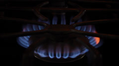 Stove Top - Continuous Flame Stock Footage
