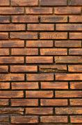 Brick wall in vertical view Stock Photos