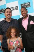 nick cannon, director neil abramson and erika glock - stock photo