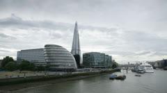 The Shard, London, UK - Time-lapse - stock footage