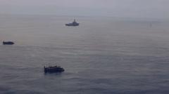 Japanese Hovercraf On Sea 01 Stock Footage