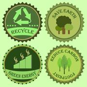 Stock Illustration of set of go green collections