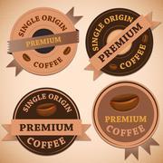 Set of vintage retro coffee badges Stock Illustration