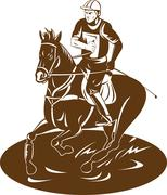 Stock Illustration of equestrian riding horse