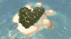 Love island Stock Illustration