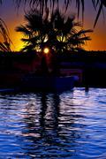 Tunisia  swimming pool Stock Photos