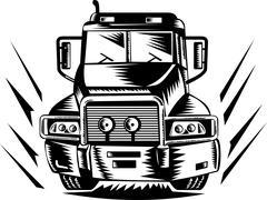 Truck kuorma-auto, retro Piirros
