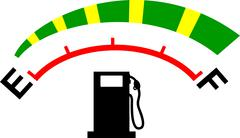 fuel gage meter - stock illustration
