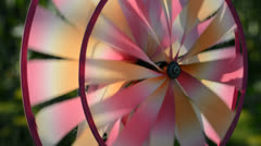 Colorful pinwheel rotates Stock Footage