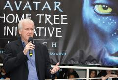 "blu-ray and dvd release of ""avatar"" earth day tree planting ceremony. - stock photo"