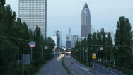 Stock Video Footage of Traffic time lapse Frankfurt 01