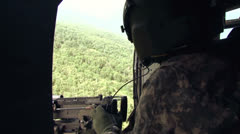 Helicopter Gunner 03 Stock Footage