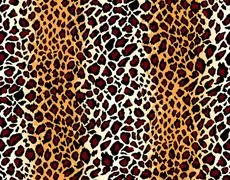 vector. seamless jaguar skin pattern - stock illustration