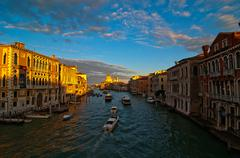 venice italy grand canal view - stock photo