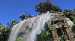 Nice France waterfall on hill top video Stock Footage