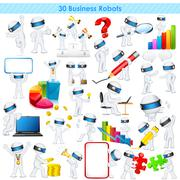 3d Business man in fully scalable vector - stock illustration