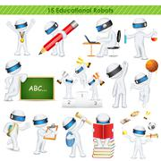 3d education student in fully scalable vector - stock illustration
