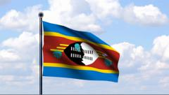 Animated Flag of Swaziland Stock Footage