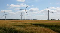 Windturbines at Hagesholm Stock Footage