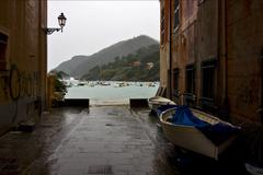 Stock Photo of north of italy liguria and street lamp