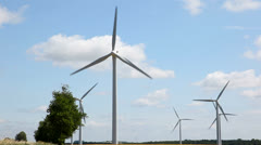 Wind Turbines in Denmark Stock Footage