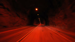 Driving though a tunnel - Time Lapse - 4K Stock Footage