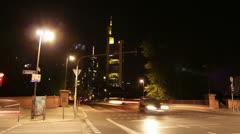 Traffic time lapse Frankfurt 04 Stock Footage