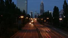 Traffic time lapse Frankfurt 03 Stock Footage