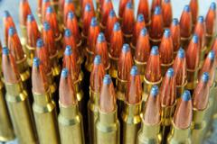 Rifle ammunition Stock Photos