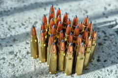 Rifle ammunition - stock photo