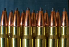 Rifle ammunition close-up Stock Photos