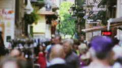 Crowded Touristic Shopping Street in Italy - 29,97FPS NTSC Stock Footage