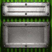 Stock Illustration of metal on green background