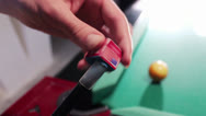 Stock Video Footage of PLASTER POOL CUE