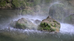Kursunlu waterfalls view 04 Stock Footage