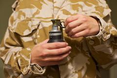 Hand grenade danger Kuvituskuvat
