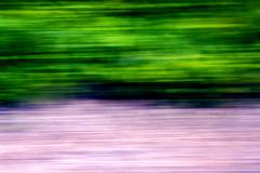 close up abstract of a  green pink street - stock photo
