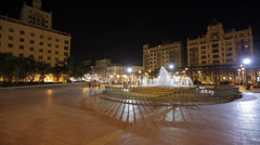 Malaga Marina Square Stock Footage