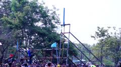 Bun Bang Fai Festival Stock Footage